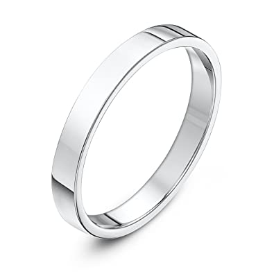 Theia Unisex Sterling Silver Super Heavy Court Shape Wedding Ring h5gicAiU1o