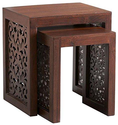 Home Decorators Collection Maharaja Nesting Tables, Nesting TBLS/2, Walnut