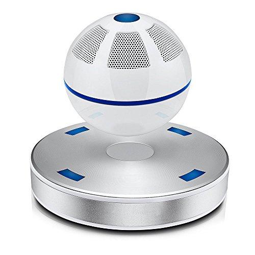(SainSonic SS-01 Portable Wireless Bluetooth Floating Levitating Maglev Speaker (White))