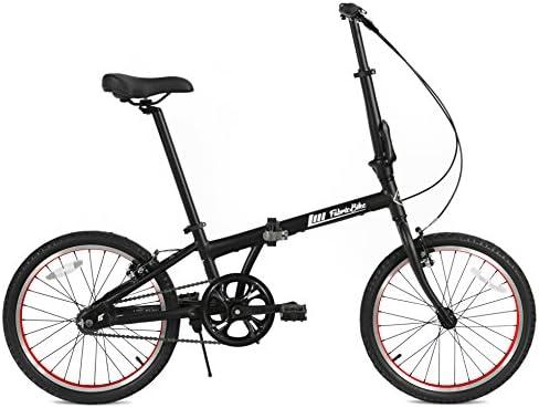FabricBike Folding Bicicleta Plegable Cuadro Aluminio 3 Colores (Matte Black & Red): Amazon.es: Deportes y aire libre