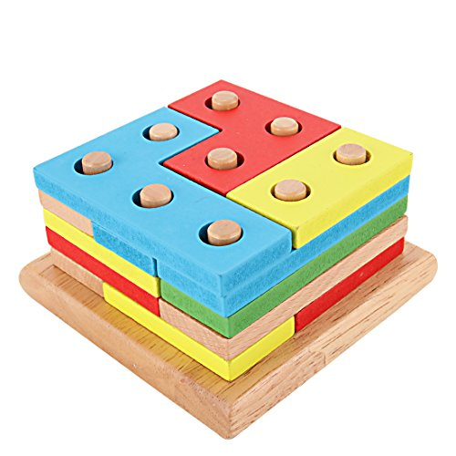 GYBBER&MUMU Wooden Toy Intelligence Geometry Assembling Building Block