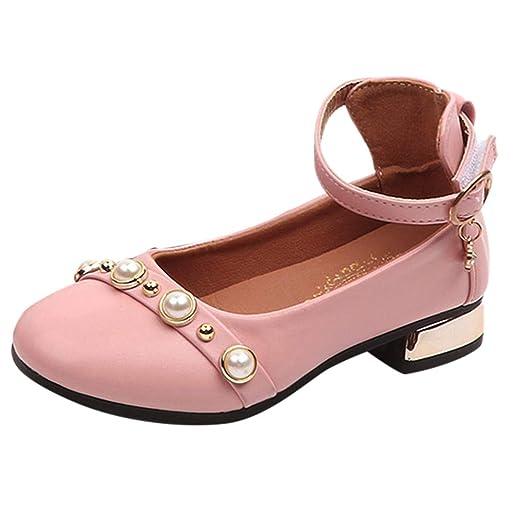 Bebé Niños Niños Chicas Bowknot Sólido Princesa Zapato Zapatillas Casual Zapatillas Individuales LILICAT ✈✈ 2019 Niñas de los niños Zapatos de Princesa ...