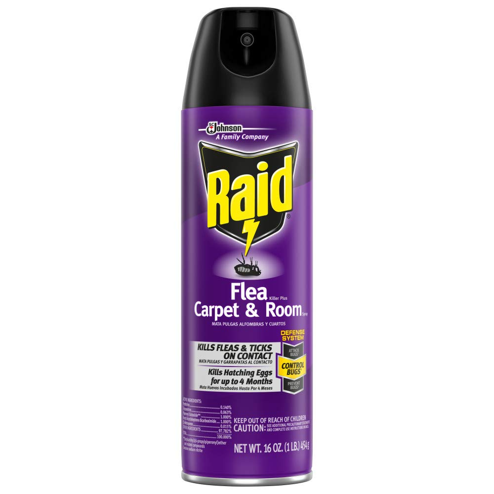 Raid Flea Killer Carpet & Room Spray, Kills hatching eggs for up to 4 months, 16 Oz