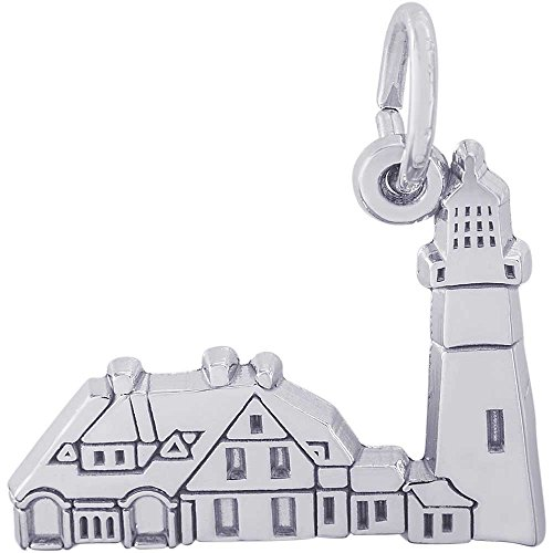 Rembrandt Charms Portland Head Lighthouse, Maine Charm, Sterling Silver (Lighthouse Charm Rembrandt)