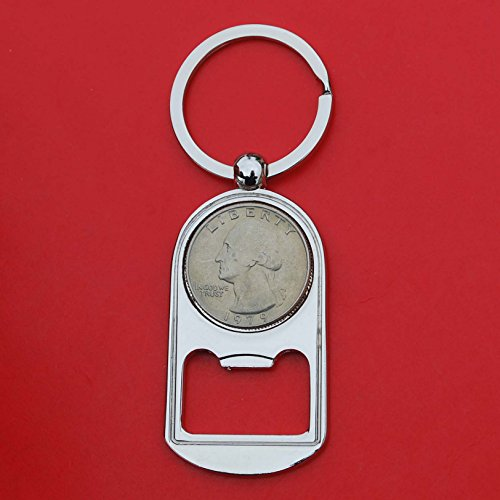 US 1979 Washington Quarter BU Uncirculated Coin Key Chain Ring Bottle Opener NEW