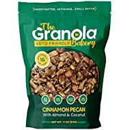 The Granola Bakery Keto Granola | Low Carb Keto Cereal | 1g Net Carb | Low Sugar, Keto Nut Granola | Small Batch, Hand Crafted | Cinnamon Pecan, 11 Ounces
