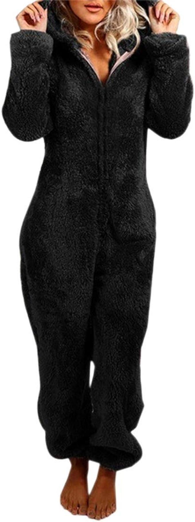 Westkun Unisexe Flanelle Lounge Peignoir Blouse Complet Zipper Longs Manteaux Pyjamas V/êtements de Nuit pour Homme et Femme