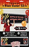 Amscan Rock on Personalize It Giant Party Sign Banner Decoration, 65'' x 20'', Pack of 121. Supplies , 1452 Pieces