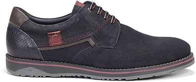 Fluchos | Zapato de Hombre | Brad 9474 Kansas Marino Zapato | Zapato de Piel de Nobuk de Vacuno de Primera Calidad | Cierre con Cordones | Piso TR
