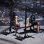 AOLI-Squat-Rack-Bilanciere-Rack-Panca-da-casa-Telaio-di-protezione-da-squat-Fitness-multifunzione-Panca-per-pesi-semplice-Telaio-per-attrezzature-Panche-Sedia-da-fitness-neraNero81-46-120-cm