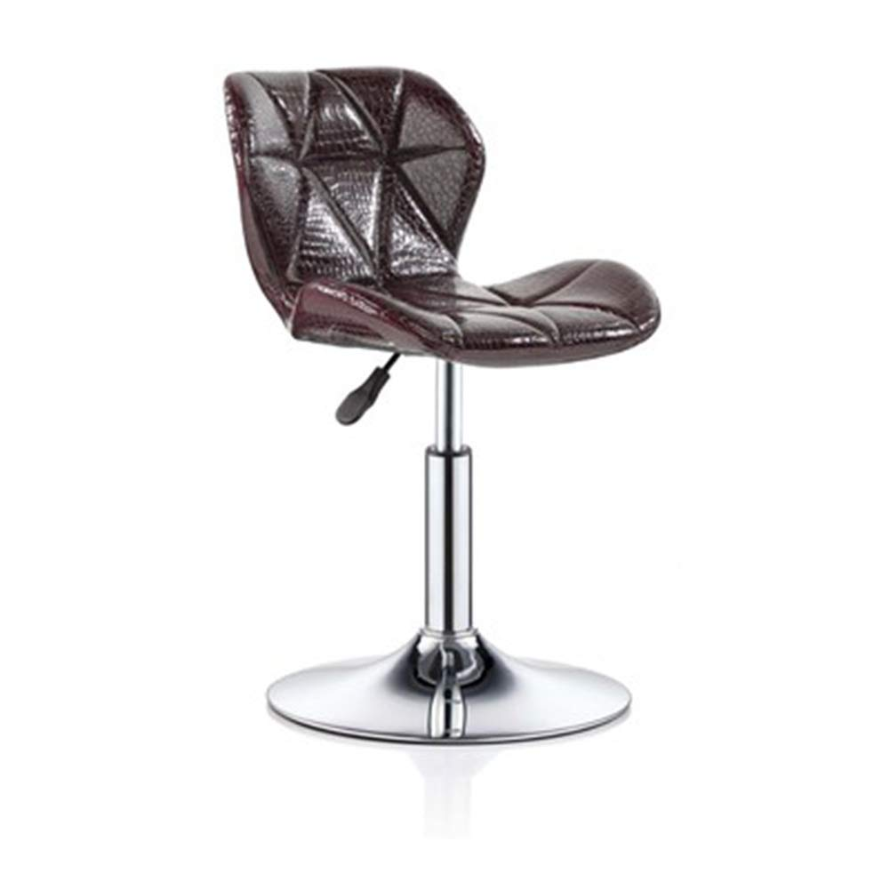 Wine red+PU 3540cm ZHAOYONGLI Barstools,Stools Kitchen Bar Stools Adjustable Breakfast Bar Stools Swivel Gas Lift Chrome Footrest and Large Base (color   Green+Imitation Cloth, Size   35  40cm)