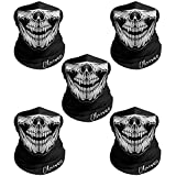 Breathable Seamless Tube Skull Face Mask, Motorcycle Bicycle Face Mask (5 Pcs-Set W)