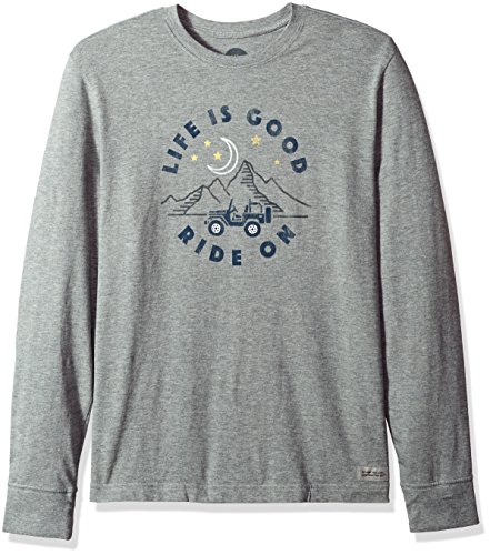 Life is good Crusher Long Sleeve Atv Ride T-Shirt, Heather Gray, Medium (Sleeve Is Long Life Good)