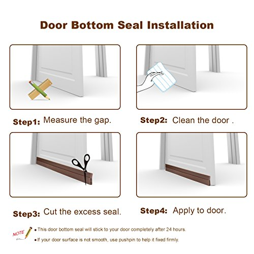 Under door sweep weather stripping door bottom seal strip door draft stopper ebay - Weather proofing your home with weather strips and draft stoppers ...