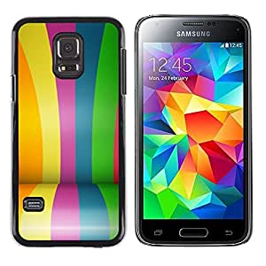 LECELL--Funda protectora / Cubierta / Piel For Samsung Galaxy S5 Mini, SM-G800, NOT S5 REGULAR! -- Colors Rainbow Gay Blue --