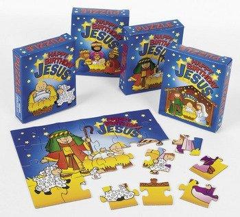 Happy Birthday Jesus Puzzles - Sunday School & Toys & (Happy Birth)