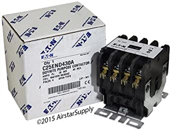 ge cr353ac4aa1 replaced by eaton cutler hammer c25end430a 50mm dp contactor 4 pole 30 amp. Black Bedroom Furniture Sets. Home Design Ideas