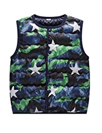 Tootless Boys Tank Top Winter Warm Printed Button Vest Coats Jacket