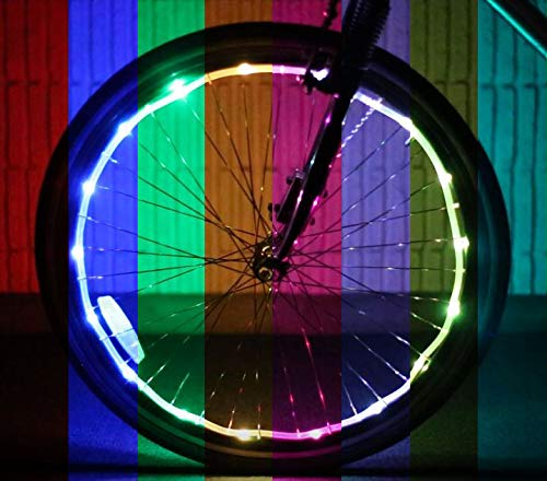 (Brightz WheelBrightz LED Bicycle Wheel Accessory Light (for 1 Wheel), Color Morphing)