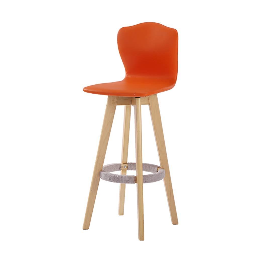 orange-B 1014848cm Bar Stool Bar Stools Wooden Bar Stool Wooden Bar Stool High-redating Bar Chair High Back Release Waist Pressure Load Capacity 160kg (color   Black-B, Size   93  48  48cm)