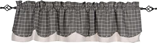 Home Collections by Raghu 72×15.5 Summerville Pewter Fairfield Valance, 72 x15.5 Stripe