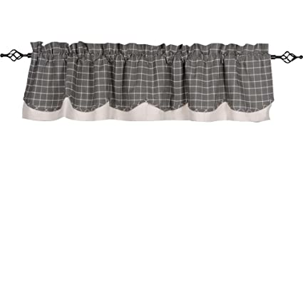 Home Collections by Raghu 72x15.5 Summerville Pewter Fairfield Valance