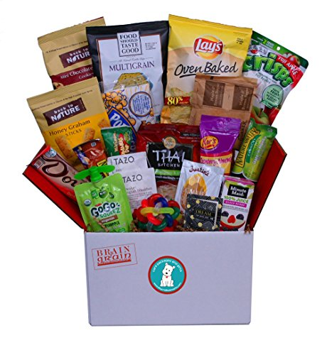 Brain & Grain Healthy Care Package - Medium Size, Snacks and Treats for University Student Birthday or Final Exams, New Hires, Interns, Office Breakroom, Meetings, New Clients (Exam Package)