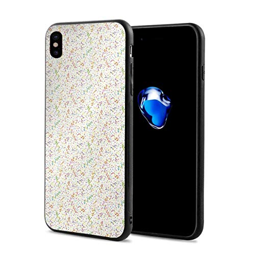 (Phone Case Cover Compatible with iPhone X XS,Festive and Colorful Confetti Pattern Happy Occasion Theme Dots Stars and Streamer,Compatible with iPhone X/XS 5.8)