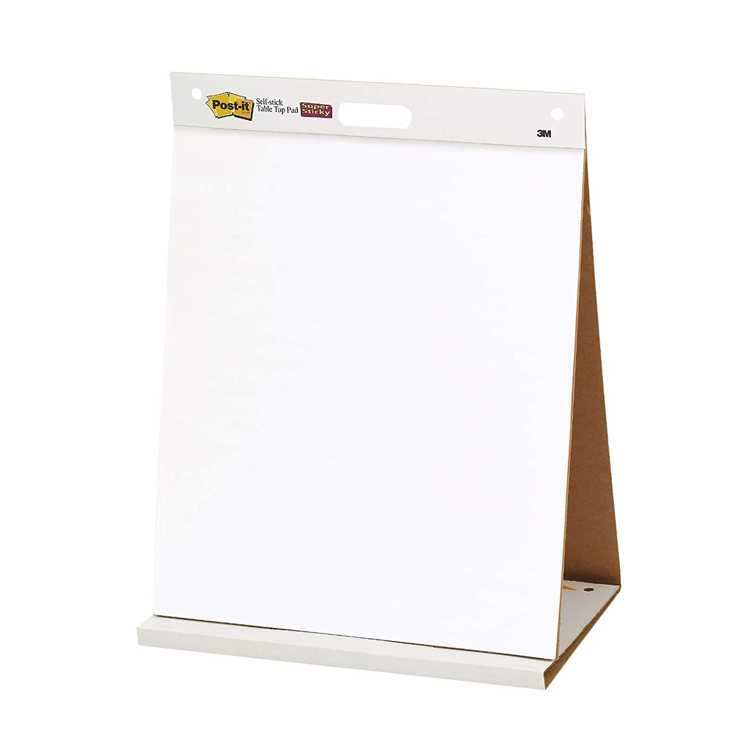 Post-it Table Top Easel Pad – Portable flip chart with foldable tabletop stand - 1 x note pad with 20 self-adhesive sheets, 584 mm x 508 mm