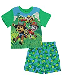 "Paw Patrol Little Boys' Toddler ""Jungle Pups"" 2-Piece Pajamas"