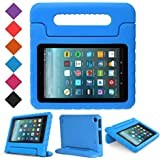 BMOUO Case for All New Fire 7 2017 - Light Weight Shock Proof Handle Kid-Proof Cover Kids Case for All New Fire 7 Tablet (7th Generation, 2017 Release), Blue