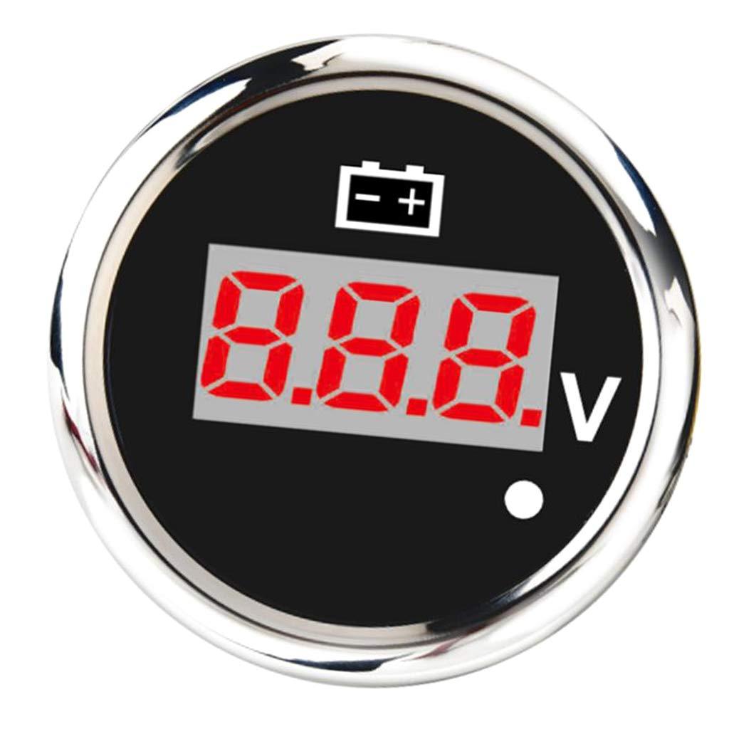 Black perfk 2 52mm Digital Display Voltmeter Gauge Universal Volt Meter for Car Motorcycle