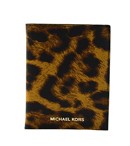 Michael Kors Money Pieces Butterscotch Saffiano Leather Passport Holder Case Cover ()