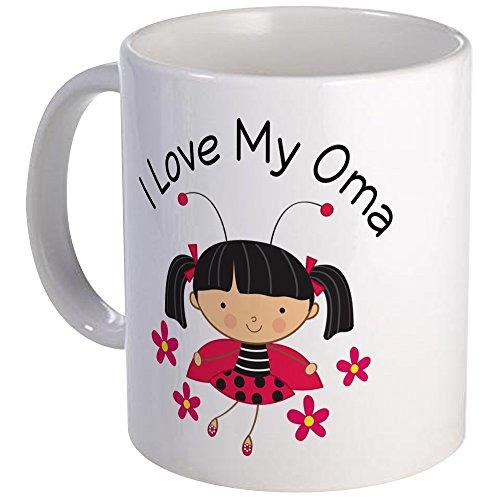 - CafePress - I Love My Oma Ladybug Mug - Unique Coffee Mug, Coffee Cup