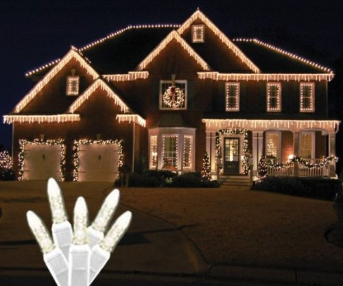 Led White Icicle Light Set