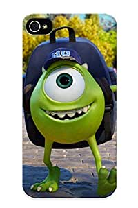 New Mike Wazowski Monsters University Tpu Case Cover, Anti-scratch QueenVictory Phone Case For Iphone 4/4s