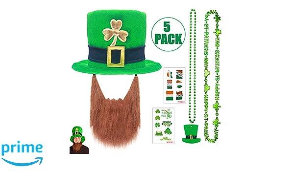 Sombrero del día de San Patricio 5 PCS Kit- Sombrero de duende con ...