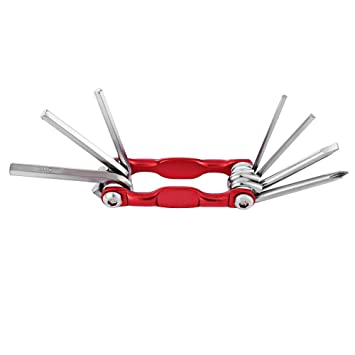Nider 7 en 1 Multifuncional Plegable MTB Herramienta de reparación de Ciclismo Destornillador Hexagonal Llave Allen
