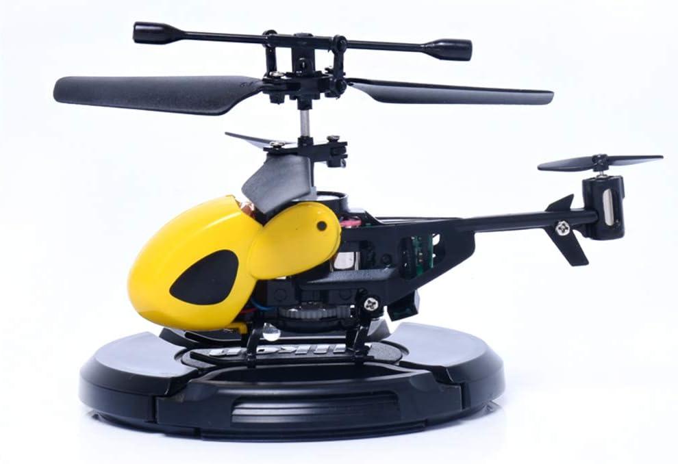 Mallalah - Helicóptero teledirigido para interior y exterior, luz LED, 2 canales, niños y adultos, juguete de regalo, diseño de avión