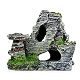 Aquarium Rockery Hiding Rock Cave Decor Underwater Landscape Mountain View Ornament Fish Tank Rockery