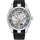 Edox Men's 'Grand Ocean' Swiss Automatic Stainless Steel and Leather Diving Watch, Color:Black (Model: 85301 3 GIN)