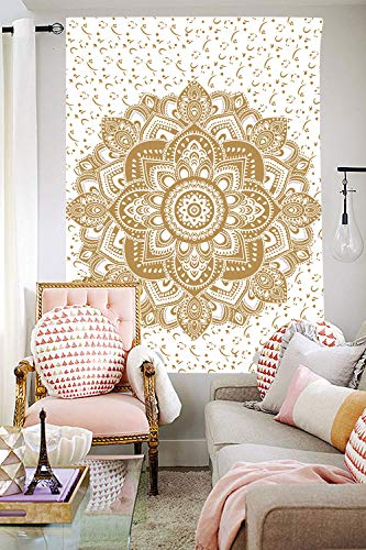 DBLLF Boutique Tapestry Wall Hanging Indian Mandala Tapestry Hippie Hippy Tapestry Wall Art Wall Decor (40×60Inches) DBLX001