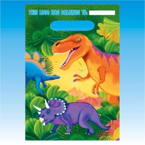 Prehistoric Dinosaurs Treat Bags, 8ct]()