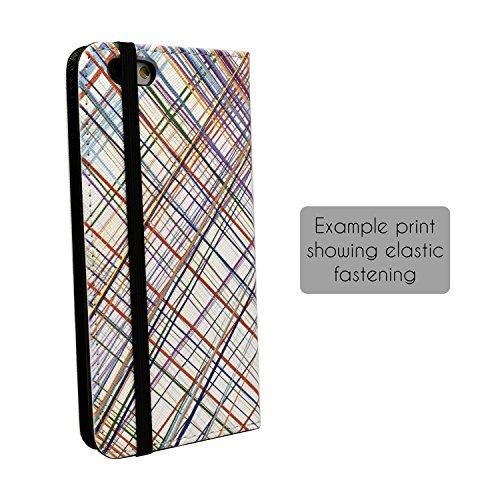 Abstraktes geometrisches Muster Full Flip Case Schutzhülle für für Apple iPhone 8–S4854 GZiwQe