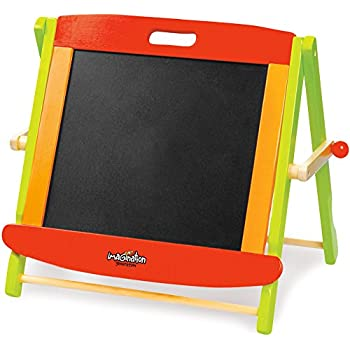 Little Artists 3-in-1 Tabletop Easel   Wooden Wonders Dry Erase Whiteboard, Chalkboard, and Magnetic Board for Kids Creative Art and Drawing   Great Art Class School Teacher Learning Activity