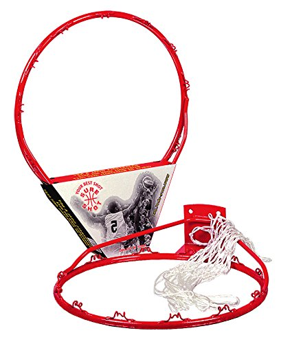 Sure Shot - Aro de baloncesto con red, color rojo y blanco 203E Basketball ring