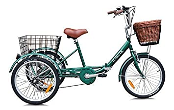 Jorvik 20″ Vintage Dutch Estilo Plegable Marco Adulto O para niños Triciclo - Verde Dutch
