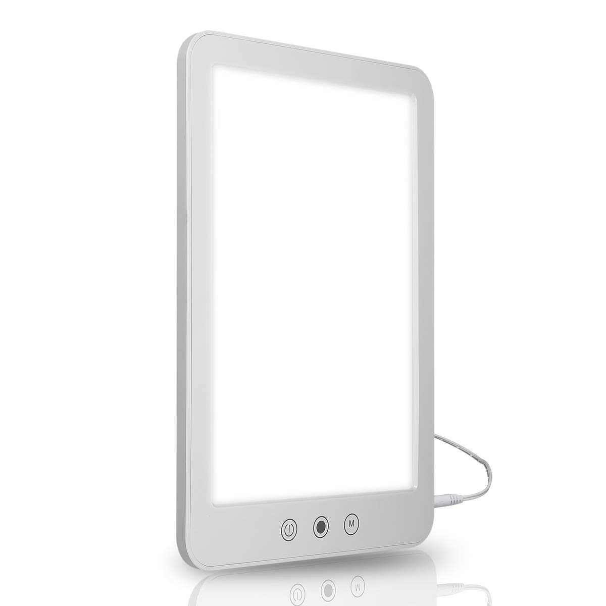 LcueGuk 10,000 Lux Bright Light Therapy Lamp with 3 Adjustable Color and Brightness Controls, Natural Sunlight Simulation, 100% UV-Free by LcueGuk