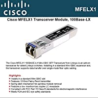 Cisco Small Business MFELX1 - SFP (mini-GBIC) transceiver module - LC single mode - up to 6.2 miles - 1310 nm