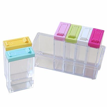 cff14f0ca3e Amazon.com  6pcs Clear Transparent Plastic Seasoning Box Case ...